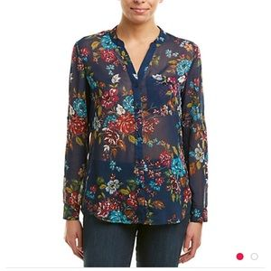 Kut from the Kloth top, navy floral and GORGEOUS